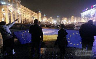 Активисты на Майдане, 22 ноября 2013 года