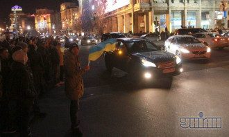 Участники автомобильного протеста