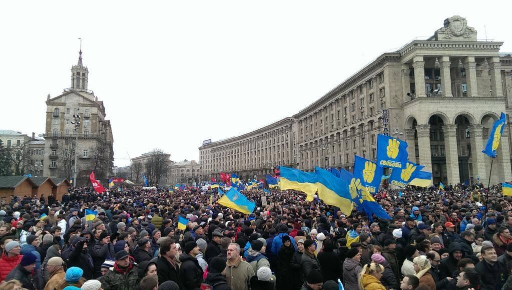 Митинг на Евромайдане