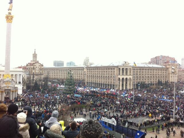Вчера на Евромайдан вышли 1,5 миллиона человек