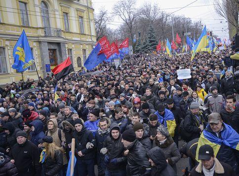 Евромайдан в центре Киева, иллюстрация