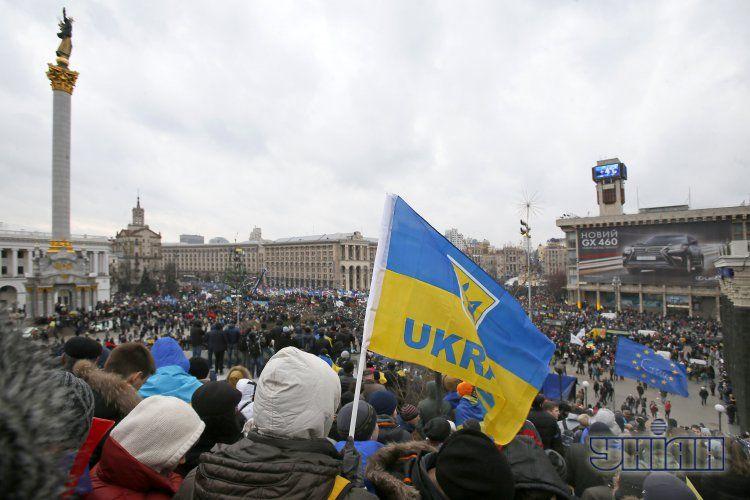 Майдан Независимости в прошлое воскресенье