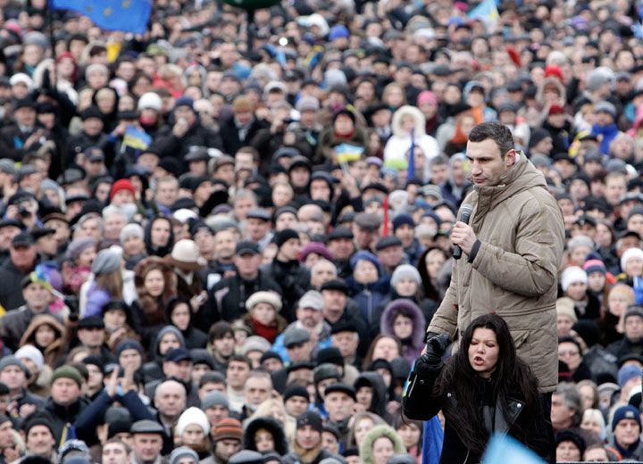 Виталий Кличко на Народном вече в Киеве