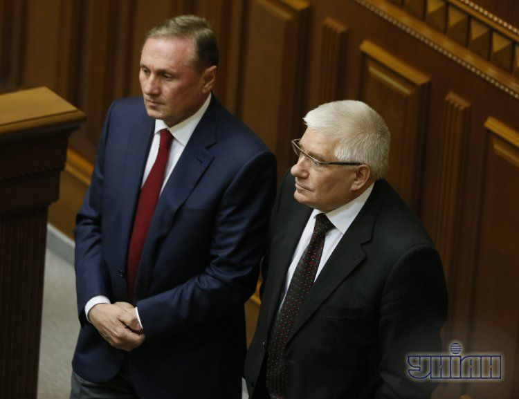Лидеры фракции ПР: Александр Ефремов и Михаил Чечетов
