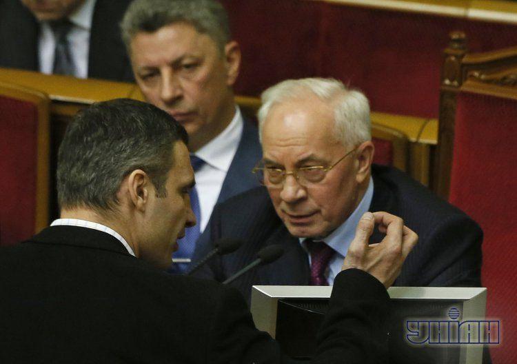 Азаров и Кличко в Раде