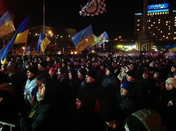 Евромайдан вечером 4 декабря