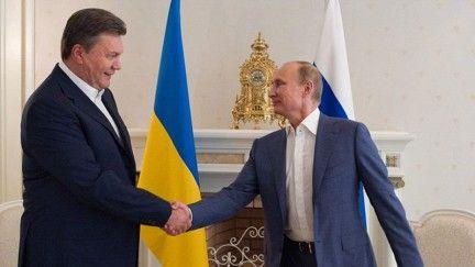 Президенты Виктор Янукович и Владимир Путин