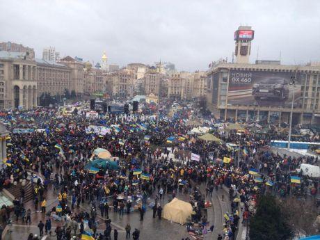 Протесты на Евромайдане в Киеве