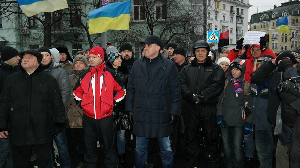 Тягнибок на акции протеста в Киеве