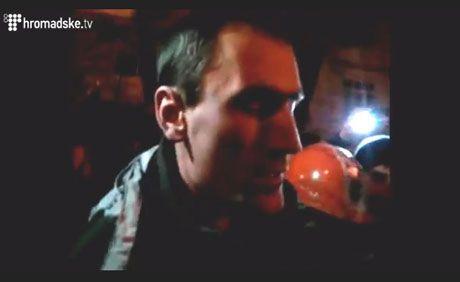 Задержанный во время акций протеста силовик