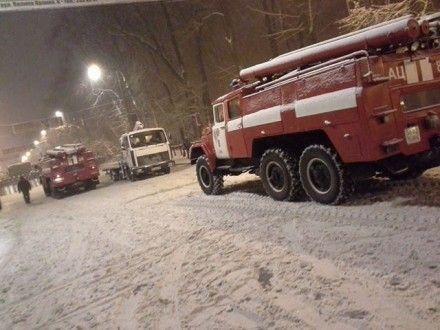 Пожарные машины возле Кабмина
