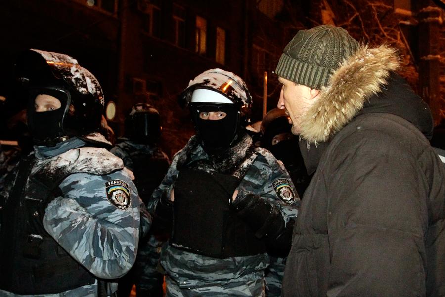 Владимир Кличко и бойцы спецназа