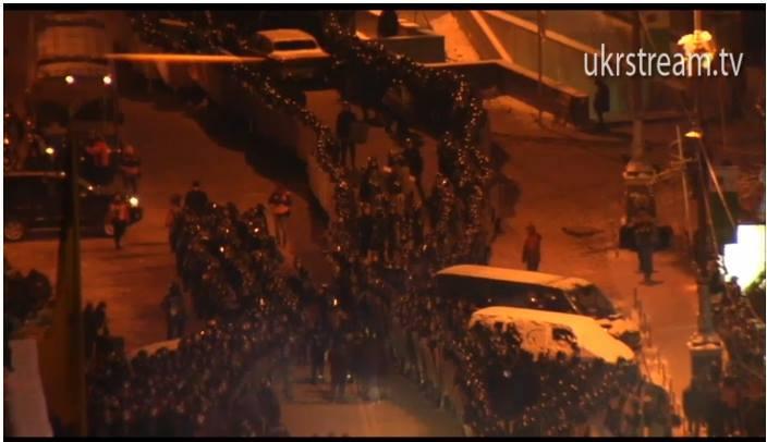 Ночные события на Евромайдане