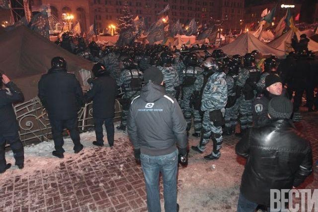 Зачистка Евромайдана, фото очевидца