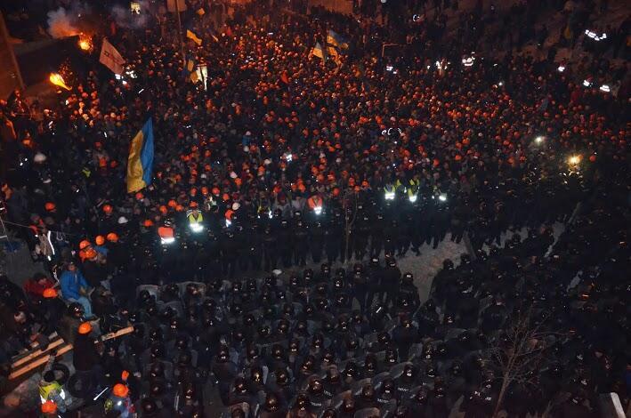 Ночное противостояние на Майдане