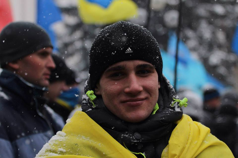 Сторонник ПР на митинге в Киеве