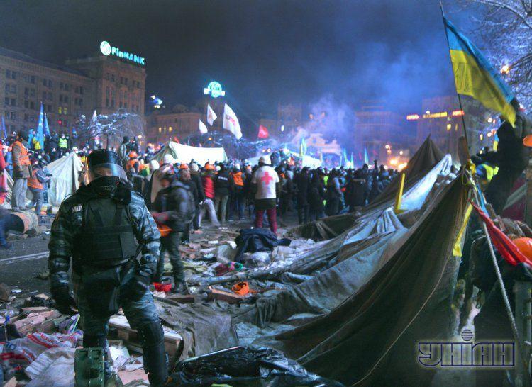 Евромайдан в ночь штурма