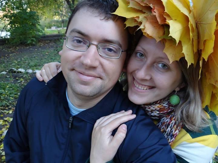 Александр Остащенко с женой Мариной