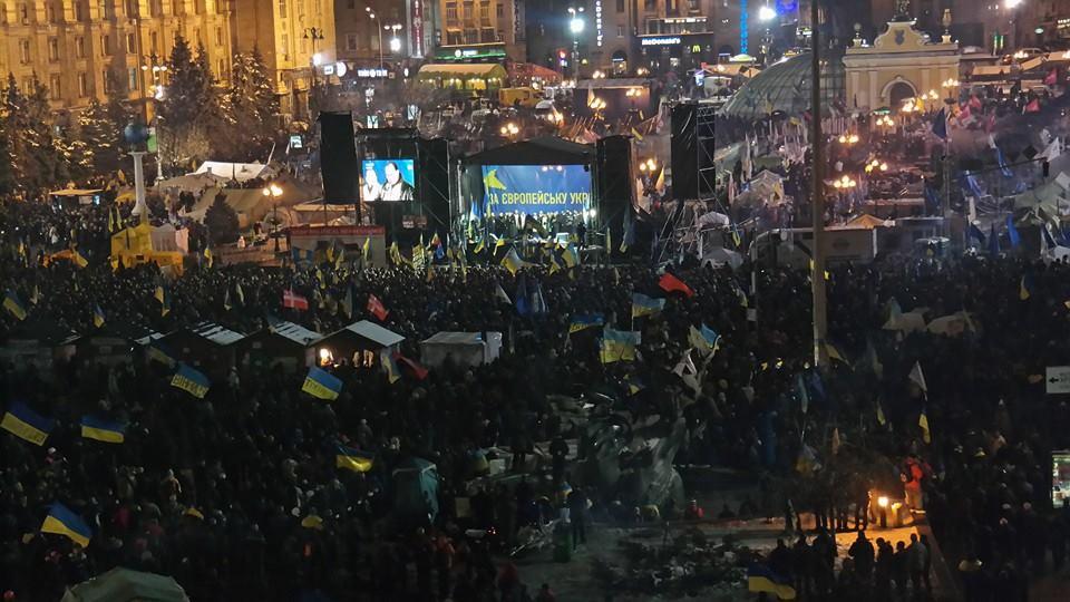Вечерний Евромайдан