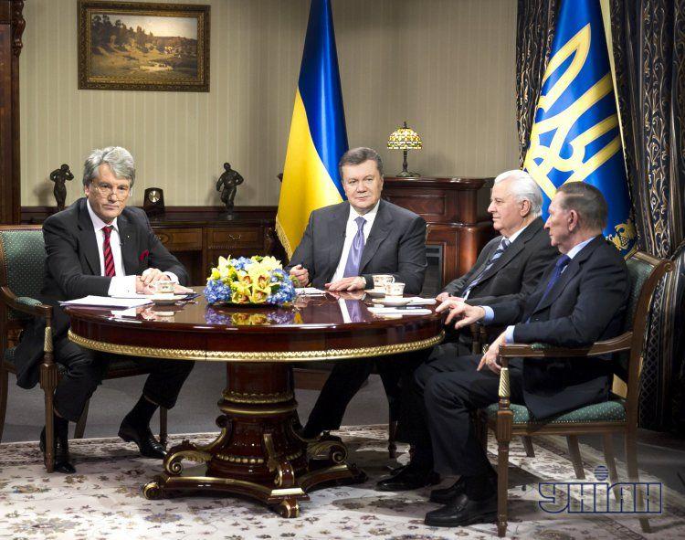 Виктор Ющенко, Виктор Янукович, Леонид Кравчук Леонид Кучма