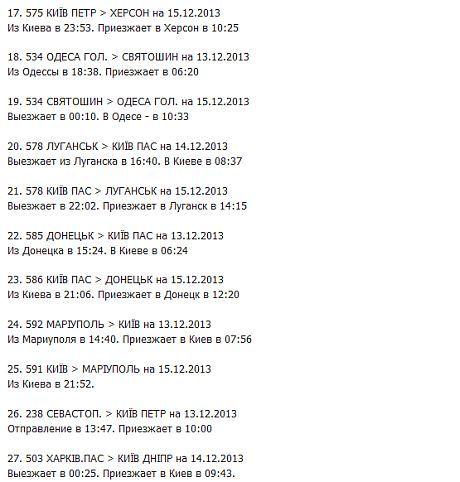 Список поездов анти-Майдана