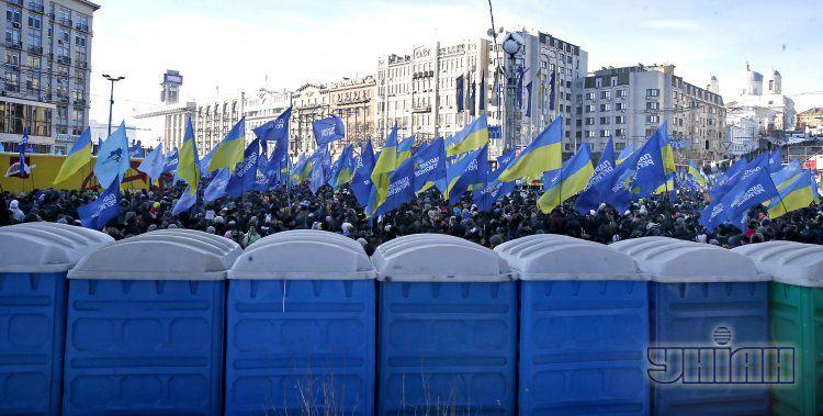 Митинг регионалов на Европейской площади в Киеве