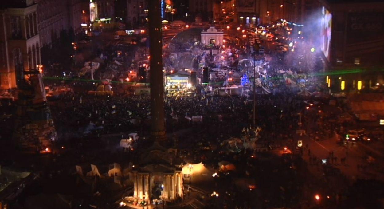 Майдан в ночь на 15 декабря