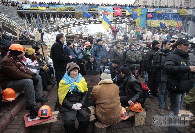 Акция на Евромайдане