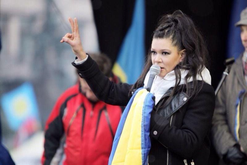 Руслана на Евромайдане (фото с официального сайта певицы)