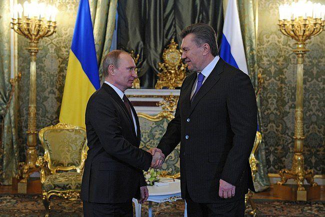 Янукович и Путин в Москве