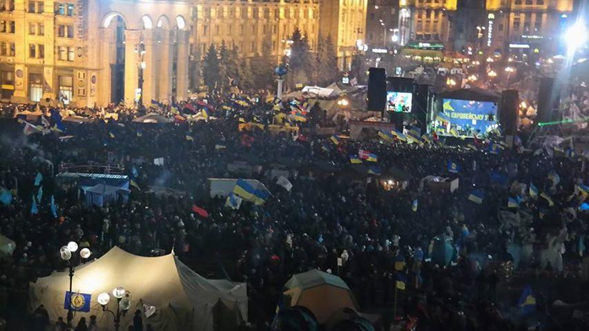 Евромайдан вечером 17 декабря