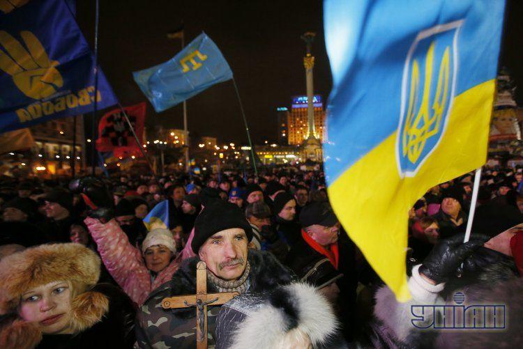 Евромайдан в Киеве, 17 декабря.