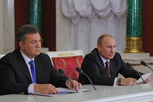Виктор Янукович и Владимир Путин в Москве