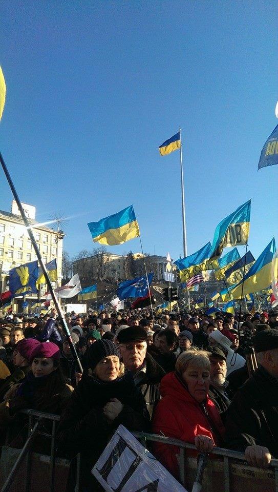 Воскресная акция на Евромайдане в Киеве