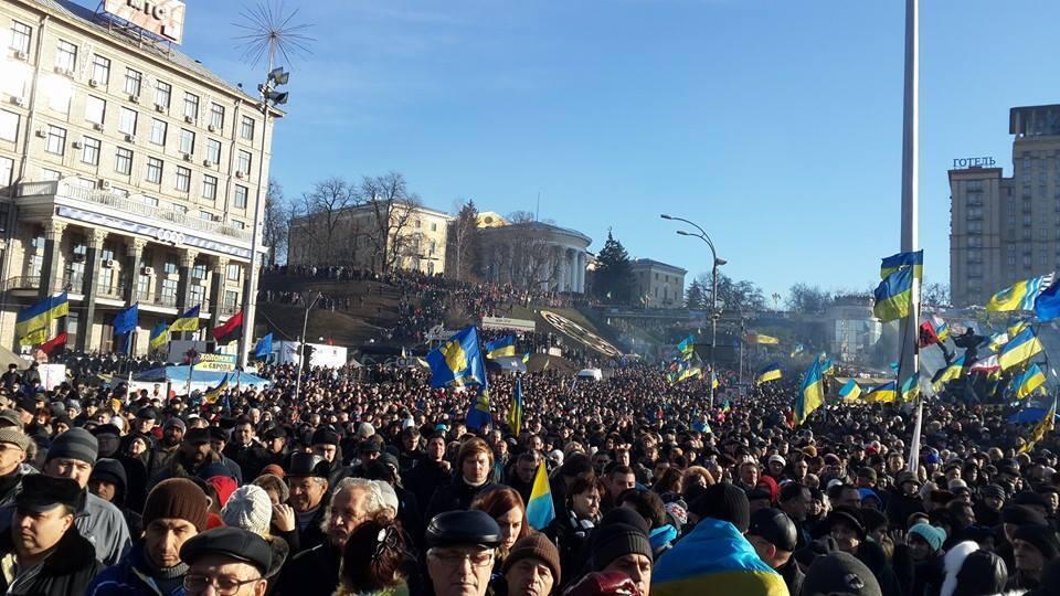 Воскресное вече на Майдане
