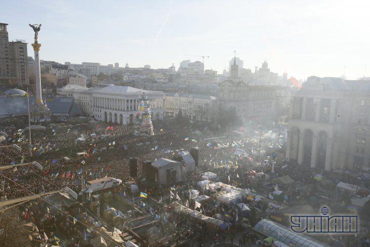 Евромайдан в Киеве в воскресенье