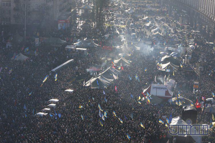 Евромайдан в Киеве 22 декабря.