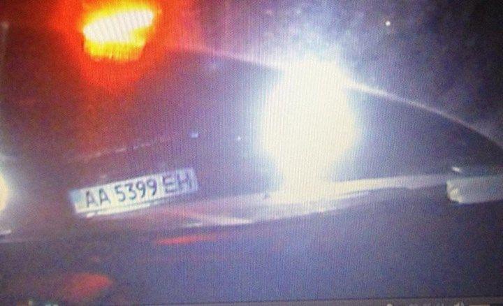 Фото авто, подрезавшего машину Чорновол