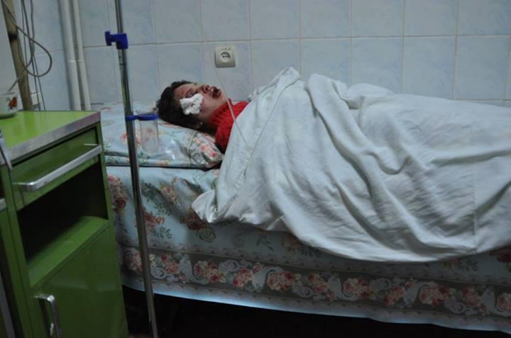Татьяна Чорновол в больницу