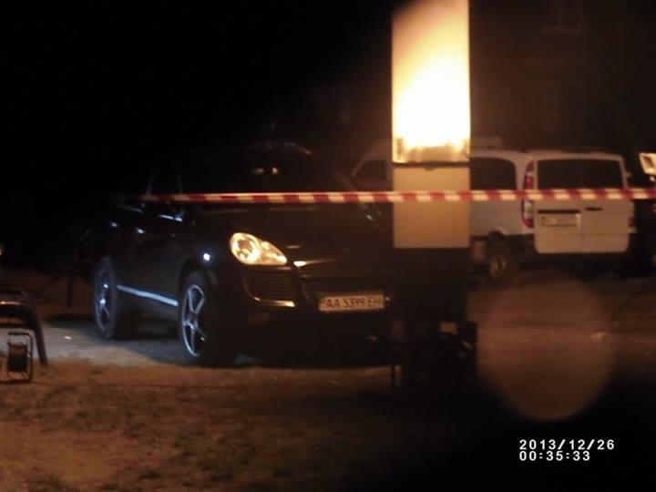 Машина, на которой ехали нападавшие на Чорновол