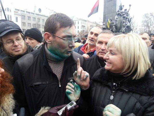 Юрий Луценко на Евромайдане в Харькове