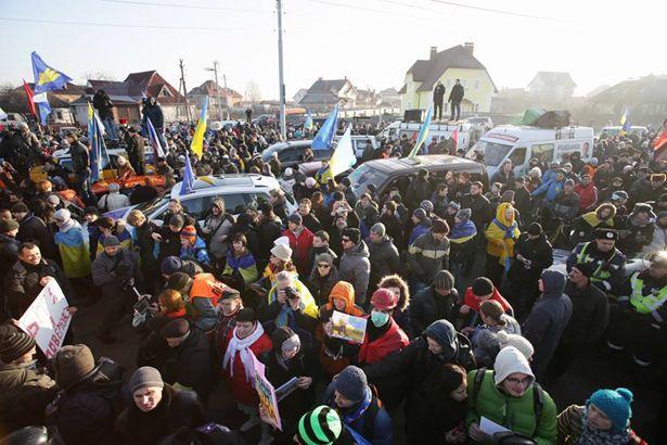 Протест в Межигорье