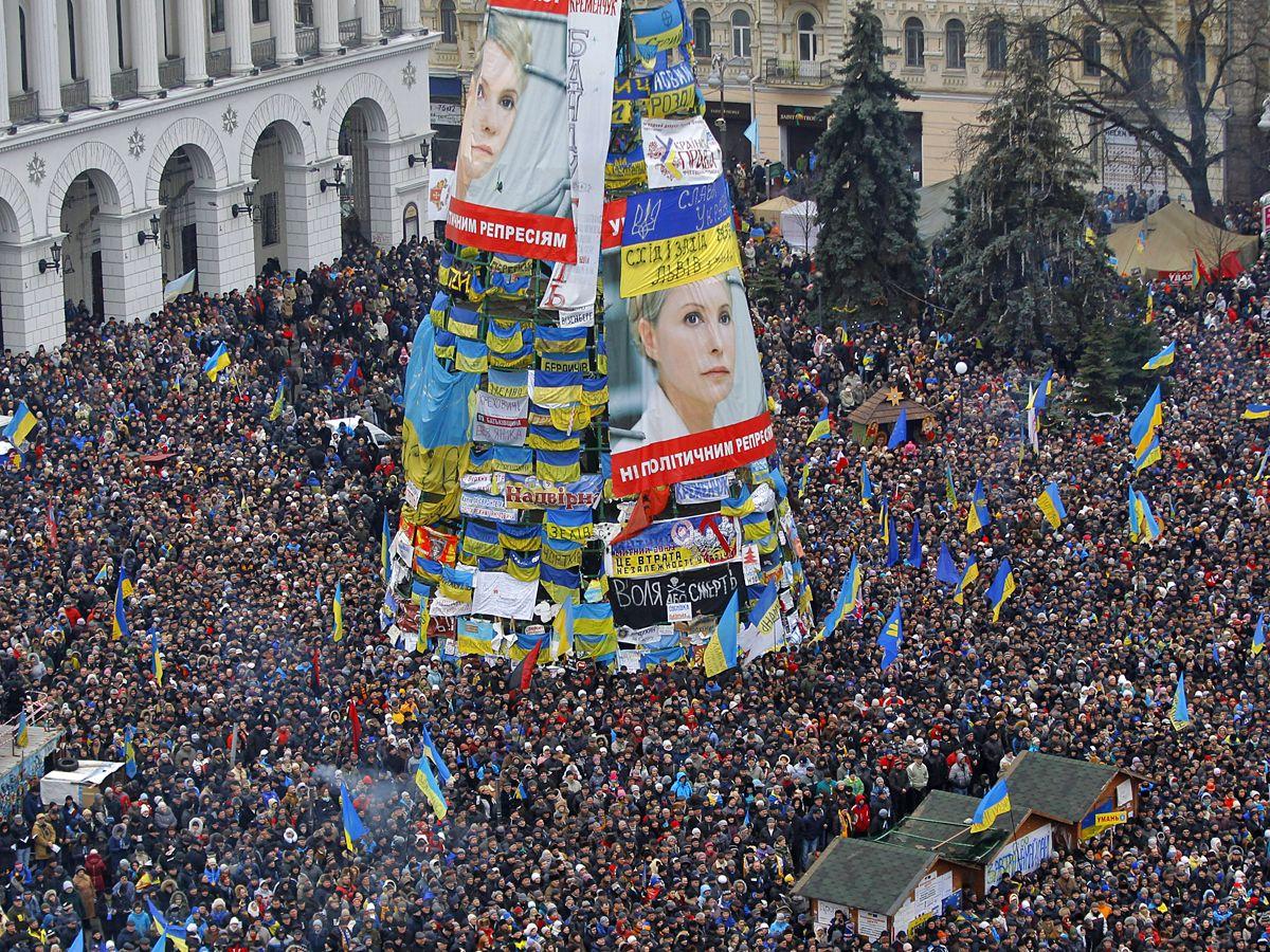 Елка на Евромайдане, иллюстрация