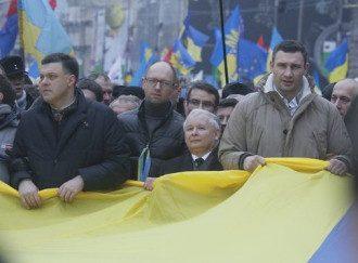 Лидеры оппозиции на Народном вече