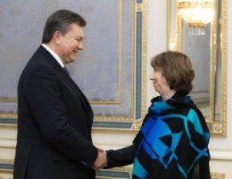 Кэтрин Эштон и Виктор Янукович
