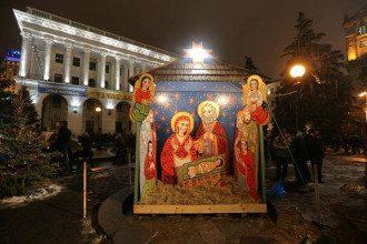 Рождественский вертеп на Майдане