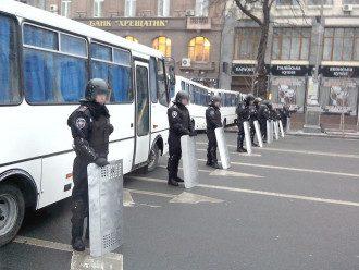 """""""Беркут"""" перекрыл доступ к Майдану со стороны Европейской площади: опубликованы фото"""