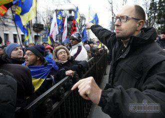Яценюк на Майдане