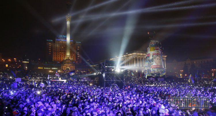 Новогодний Евромайдан, иллюстрация