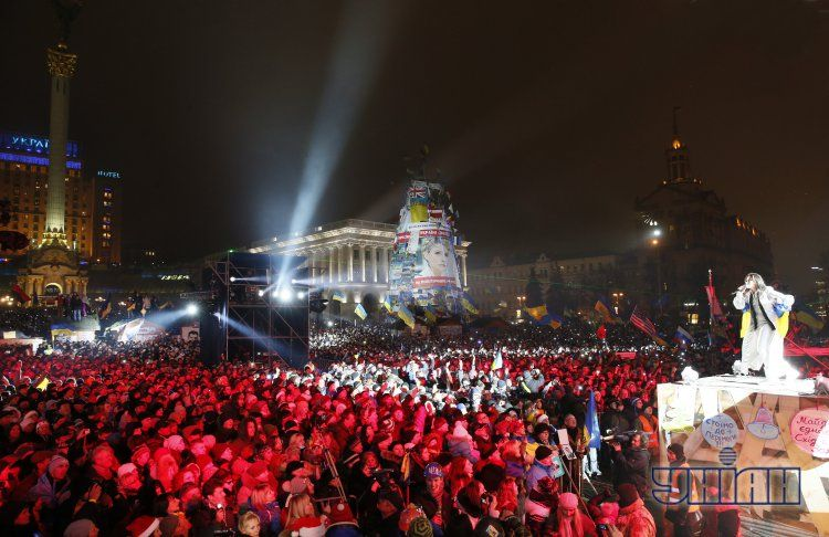 Новый год на Майдане в Киеве